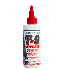 Boeshield T-9® Dry Waterproof Chain Lubricant & Rust and Corrosion Protection 4 oz. Bike Bottle